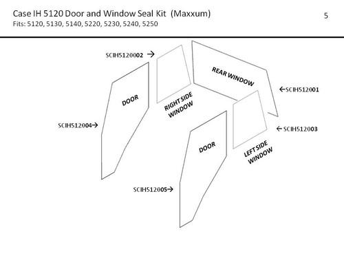 CIH  5120 - 5250 MAXXUM DOOR AND WINDOW SEAL KIT