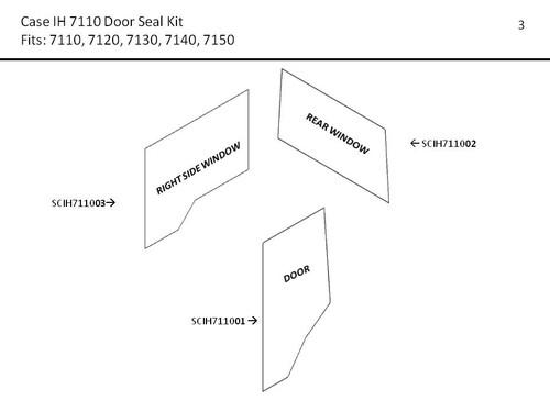 CIH 7110-7150 MAGNUM DOOR AND WINDOW SEAL KIT