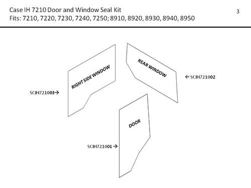 CIH 7210- 8950 MAGNUM DOOR & WINDOW SEAL KIT