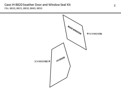 CASE-IH 8820-8850 SWATHER DOOR AND WINDOW SEAL KIT