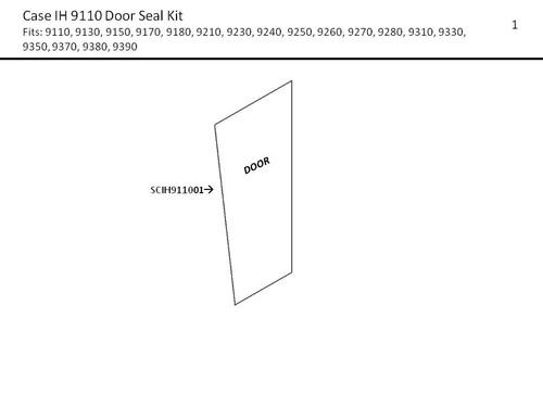 CIH 9110-9390  DOOR  SEAL KIT