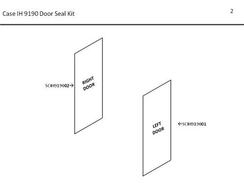 CIH 9190 DOOR SEAL KIT
