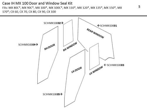 CIH MX 80C-MX 170 DOOR AND WINDOW SEAL KIT