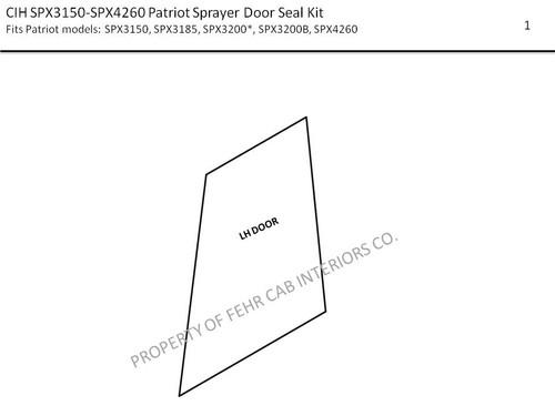 CIH SPX 3150 PATRIOT SPRAYER DOOR SEAL KIT