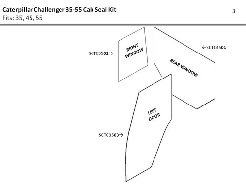 CATERPILLAR CHALLENGER 35-55  DOOR & WINDOW SEAL KIT