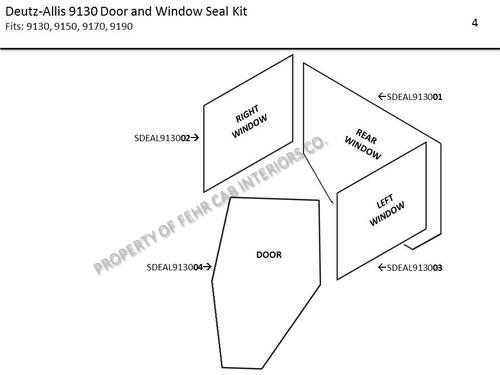DEUTZ-ALLIS 9130 DOOR & WINDOW SEAL KIT