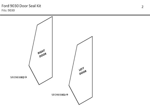 FORD 9030 DOOR SEAL KIT
