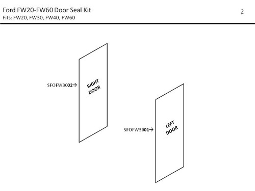 FORD FW20-FW60 DOOR SEAL KIT