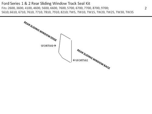 FORD SERIES 1 & 2 REAR SLIDING WINDOW TRACK SEAL KIT