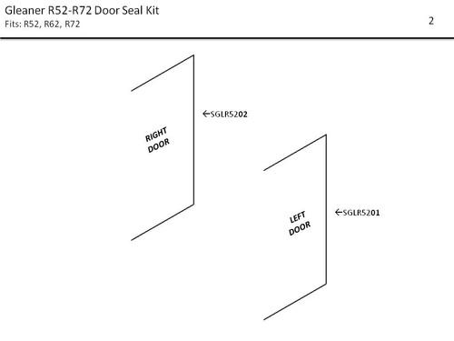 GLEANER R52- R72  COMBINE DOOR SEAL KIT