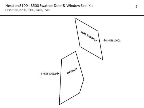 HESSTON 8100-8500 SWATHER DOOR AND WINDOW SEAL KIT