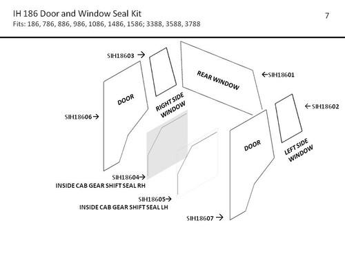 IH 186 - 3788 SERIES DOOR AND WINDOW  SEAL KIT