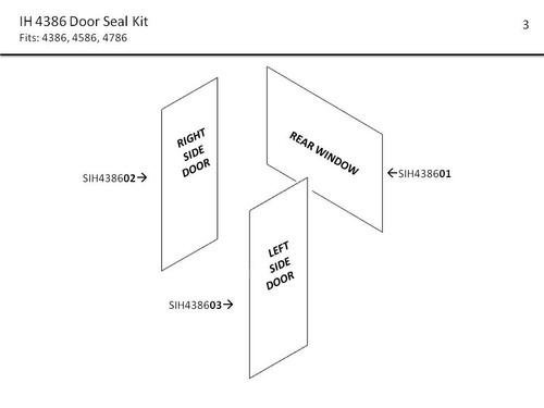 IH 4386 -4786 DOOR & WINDOW SEAL KIT