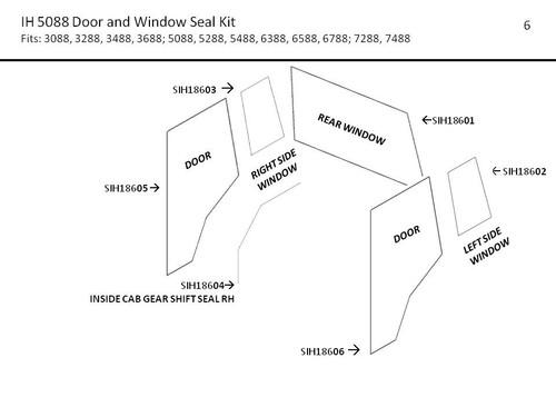IH 3088-7488 SERIES DOOR AND WINDOW  SERIES WINDOW  SEAL KIT