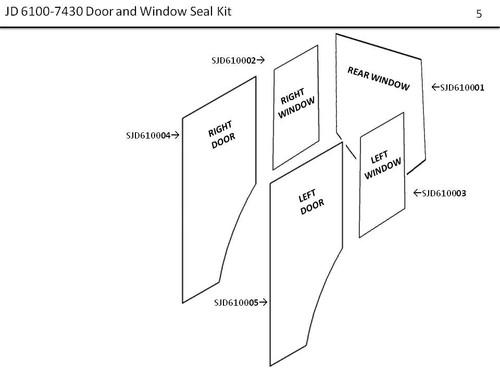 JD 6100-7430 DOOR AND WINDOW SEAL KIT