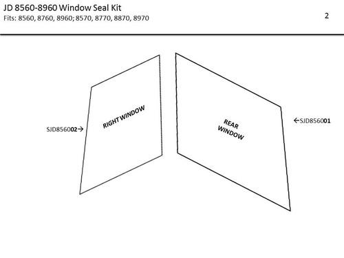 JD 8560-8960 WINDOW SEAL KIT