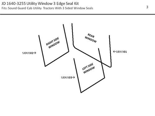 JD 1640-3255 UTILITY WINDOW SEAL KIT (3 EDGE)