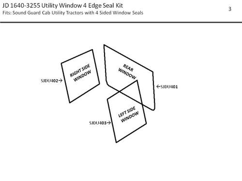 JD 1640-3255 UTILITY WINDOW SEAL KIT (4  EDGE)