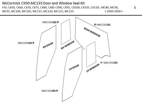 McCORMICK CX50-MTX200 DOOR AND WINDOW SEAL KIT