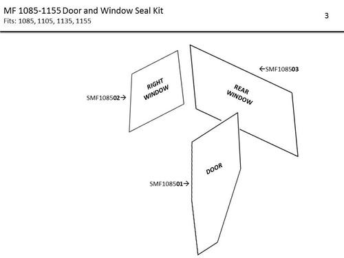 MF 1085-1155 DOOR AND WINDOW SEAL KIT