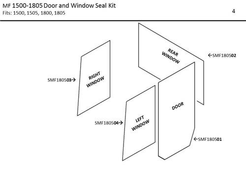 MF 1500-1805 DOOR AND WINDOW SEAL KIT