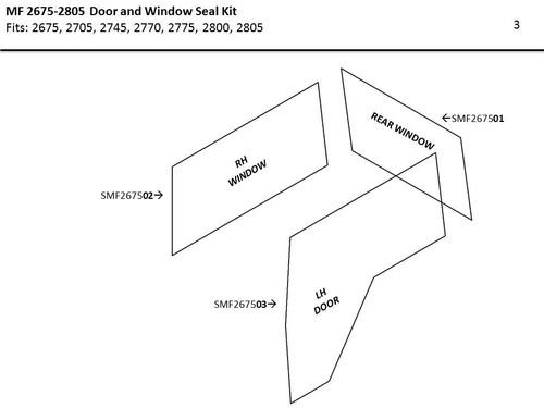MF 2675 - 2805 DOOR & WINDOW SEAL KIT