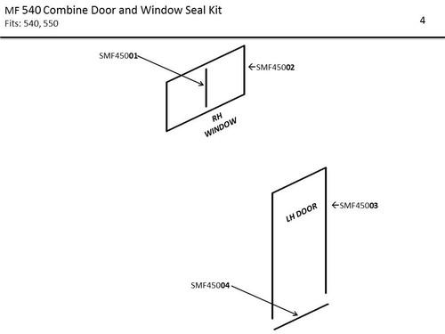 MF 540 COMBINE DOOR & WINDOW SEAL KIT