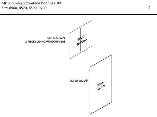 MF 8560-9720 DOOR & WINDOW SEAL KIT