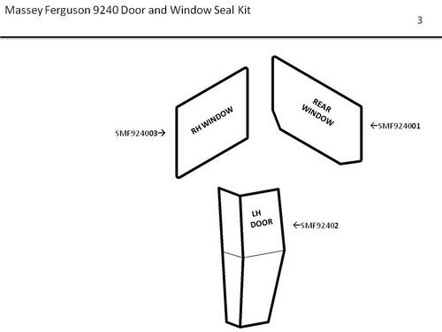 MF 9240 DOOR & WINDOW SEAL KIT