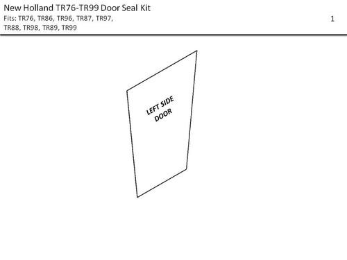 NEW HOLLAND  TR76-TR99  & 2450-2550  SWATHER  DOOR SEAL KIT