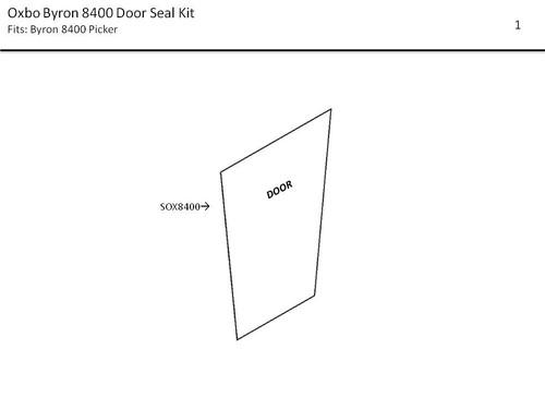 OXBO BYRON 8400 DOOR SEAL KIT