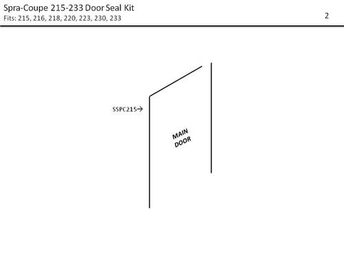 SPRA-COUPE  215-233  DOOR SEAL KIT