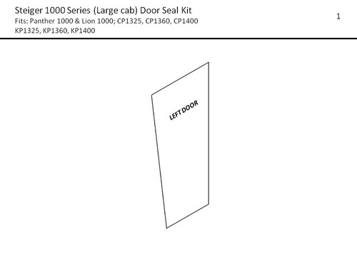 STEIGER (LG) 1000 SERIES DOOR SEAL KIT