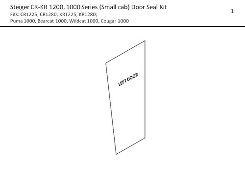 STEIGER (SM) 1000/1200 SERIES DOOR SEAL KIT