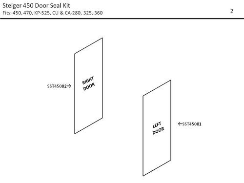 STEIGER 450-470; KP 525 DOOR SEAL KIT