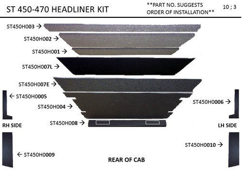 STEIGER ST 450, 470, KP 525 HEADLINER KIT