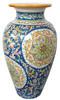 Big Vase Volute blue background
