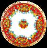 Table Cornucopia Rossa  including the base of iron