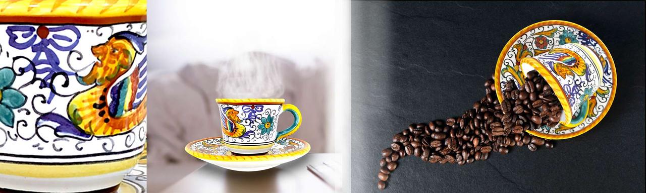 Espresso coffe cups of ceramic