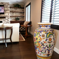 Big ceramic vase from Deruta for our customer Mike.