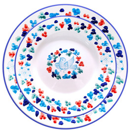 Pottery restaurant plate hand painted