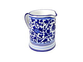 Pottery Pitcher Arabesco Blu