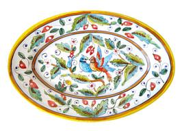 Deruta pottery Oval tray love bird