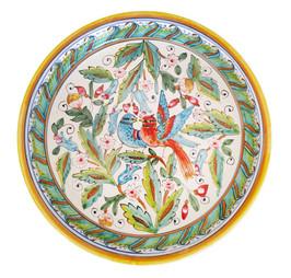 ceramic Deep round serving platea love birds 12 Inches