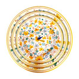 Deruta plates of tableware Arabesco Yellow Decoration