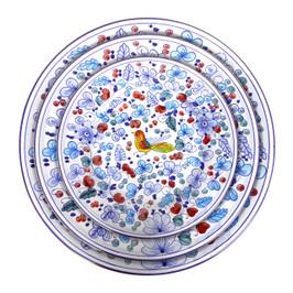 Italian Pottery table set Arabesco light blu