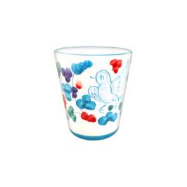 Italian ceramic drinkware  limoncello cup of Deruta decoration handpainted