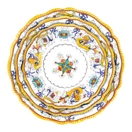 Set of three plates Raffaellesco handpainted by Deruta Italy
