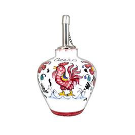 Italian ceramic Vinegar bottle Orvietano red