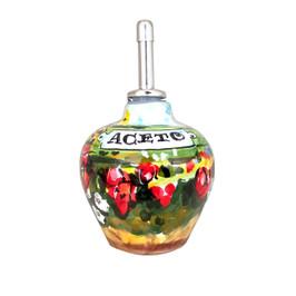 Italian ceramic vinegar bottle, maioliche originali deruta